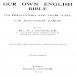 Our Own English Bible By Heaton