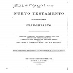 Spanish New Testament 1854