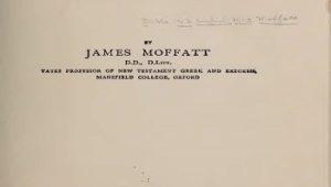 Moffat English New Testament 1913