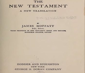 Moffat English New Testament 1913