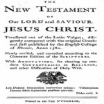 Challoner New Testament 1749 PDF