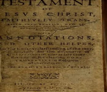 Rhemes New Testament 1621 PDF