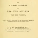 A Literal Translation of The Four Gospels From The Peschito PDF