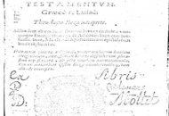 Novum Jesu Christi Testamentum 1601 and 1604 V1 and V2 PDF